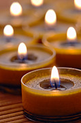 Lit Photos - Meditation Candles Path by Olivier Le Queinec