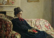 Claude Paintings - Meditation by Claude Monet