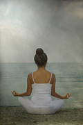 Black Top Posters - Meditation Poster by Joana Kruse