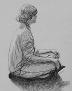 Relaxing Drawings - Meditation by Kume Bryant