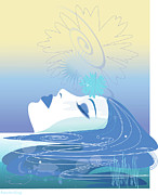 Profile Digital Art - Meditation by Lisa Henderling