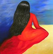 Integration Painting Prints - Meditation Moment Print by Fanny Diaz