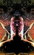 Self-portrait Digital Art - Meditation by Ron Bissett