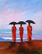 Priests Paintings - Meditation by Sally Seago