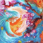 Meditation Print by Valerie Graniou-Cook