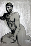 African American Drawings Originals - Meditations by Gabrielle Wilson-Sealy