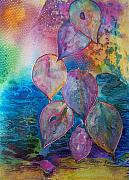 Rainbow Mixed Media Metal Prints - Meditative Bliss Metal Print by Vijay Sharon Govender