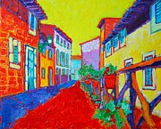Citron Paintings - Mediterranean Cityscape by Ana Maria Edulescu