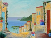 Mediterranean Haven Print by Larry Cirigliano