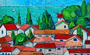 City And Colour Paintings - Mediterranean Roofs 1 2 by Ana Maria Edulescu