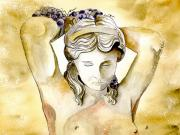 Greek Mythology Originals - Meditrina Goddess of Wine by Brenda Owen