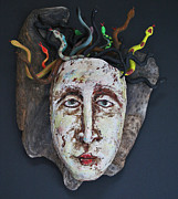 Mythology Ceramics - Medusa by Barbara Melnik Carson