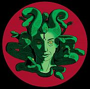 Medusa Framed Prints - Medusa Framed Print by David DAmbrosio