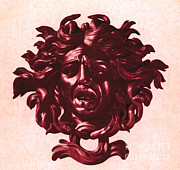 Gorgon Photo Prints - Medusa Head Print by Photo Researchers