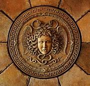 Greek Sculpture Reliefs - Medusa Head Wall plaque by Goran