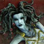Medusa Digital Art Prints - Medusa Print by Jutta Maria Pusl