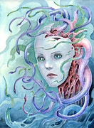 Medusa Framed Prints - Meduse Framed Print by Michael Brack