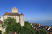 Baden-wuerttemberg Framed Prints - Meersburg castle - Lake Constance or Bodensee - Germany Framed Print by Matthias Hauser
