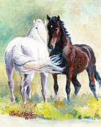 Llmartin Painting Prints - Meet and Greet Print by Linda L Martin