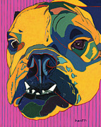 English Bulldog Paintings - Meet Big Mama by David  Hearn