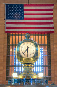 New York Art - Meet Me at the Clock III by Clarence Holmes