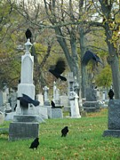 Graveyard Digital Art - Meet Up by Gothicolors And Crows
