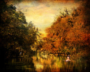 Autumn Landscape Framed Prints - Meeting of the Seasons Framed Print by Jai Johnson