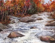 Brook  Pastels Metal Prints - Meeting of the Waters Metal Print by Jack Skinner