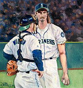 Major League Painting Posters - Meeting on the mound Poster by Donovan Furin