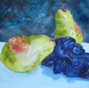 Fruit Still Life Originals - Meeting Over Grapes by Jenny Armitage