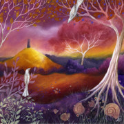 Surreal Landscape Posters - Meeting Place Poster by Amanda Clark
