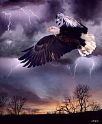 Eagles Digital Art - Meeting the Storm by Bill Stephens