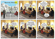 Barack Obama Digital Art Prints - Meeting Your Mother Print by Kevin  Marley