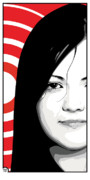 Meg White Prints - Meg White of The White Stripes Print by Jeff Nichol