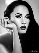 Fox Digital Art - Megan Fox by Catherin Moon