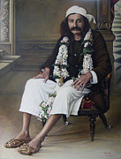 Baba Paintings - Meher Baba by Nad Wolinska