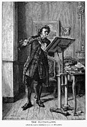 Music Stand Photos - Meissonier: Flute Player by Granger