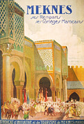 Old Town Digital Art Prints - Meknes Morocco Print by Nomad Art And  Design