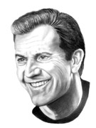 Pencil Drawing Posters - Mel Gibson Poster by Murphy Elliott