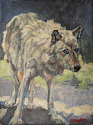 Wolf Portrait Paintings - Mel by Patricia A Griffin
