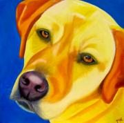 Golden Lab Paintings - Melancholy Baby by Maz