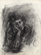 Drawings Drawings Drawings - Melancholy by Ethel Vrana