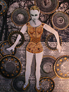 Cogs Mixed Media Posters - Melanie Poster by Jeanne Hollington