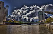 Buidlings Framed Prints - Melbourne Australia City Skyline Framed Print by Douglas Barnard