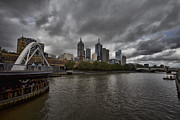 South Bank Framed Prints - Melbourne City Skyline-South Bank Framed Print by Douglas Barnard