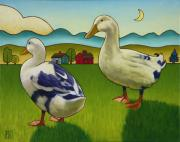 Farm Life Prints - Melissas Ducks Print by Stacey Neumiller