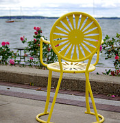 Union Terrace Photo Posters - Mellow Yellow Poster by Linda Mishler