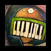 Featured Paintings - Melodica Mouth by Tim Nyberg