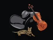 Clipart Posters - Melody  for cats Poster by Manfred Lutzius