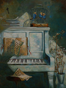 Cage Paintings - Melody by Nelly Baksht
